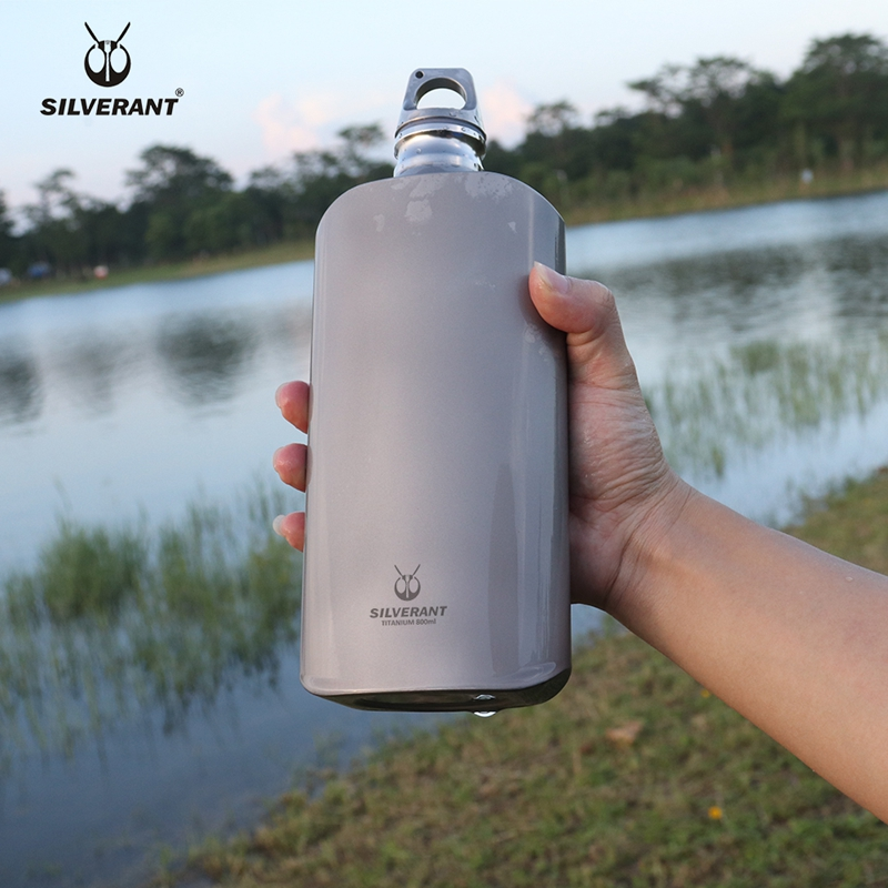 Pure Titanium Water Wine Coffee Tea Bottle Flask Portable Outdoor Camping Travel Gear EDC Tools