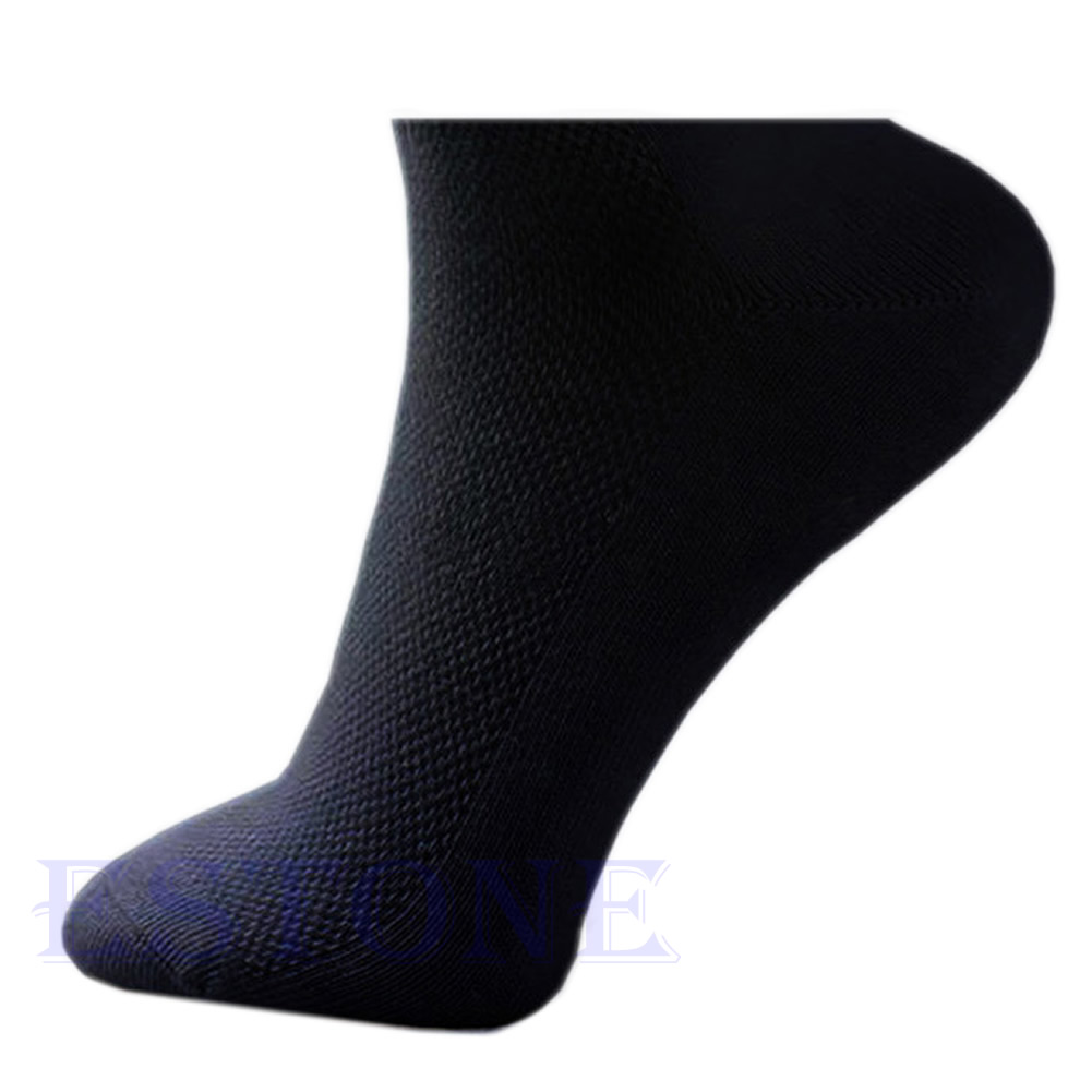 10 Pairs Men Women Cosy Soft Cotton Blend Sport Ankle Elastic Casual Sock A6HC