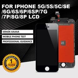 AAA + + iPhone5G 5S 5C 6G 6S 7 8 LCD mükemmel 3D sayısallaştırıcı montaj dokunmatik ekran için iPhone 6P 6SP 7P 8P LUS ekran + hediye