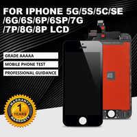 AAA + + pantalla LCD para iPhone 5S 5G SE 5C 6G 7G 8G pantalla LCD 3D digitalizador de pantalla táctil componente adecuado para iPhone 6P 6sP 7P 8Plus