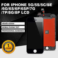 AAA++For iPhone5G 5S 5C 6G 6S 7 8 LCD with perfect 3D Digitizer MOUNT with Touch Screen for iPhone 6P 6SP 7P 8P LUS Display+gift