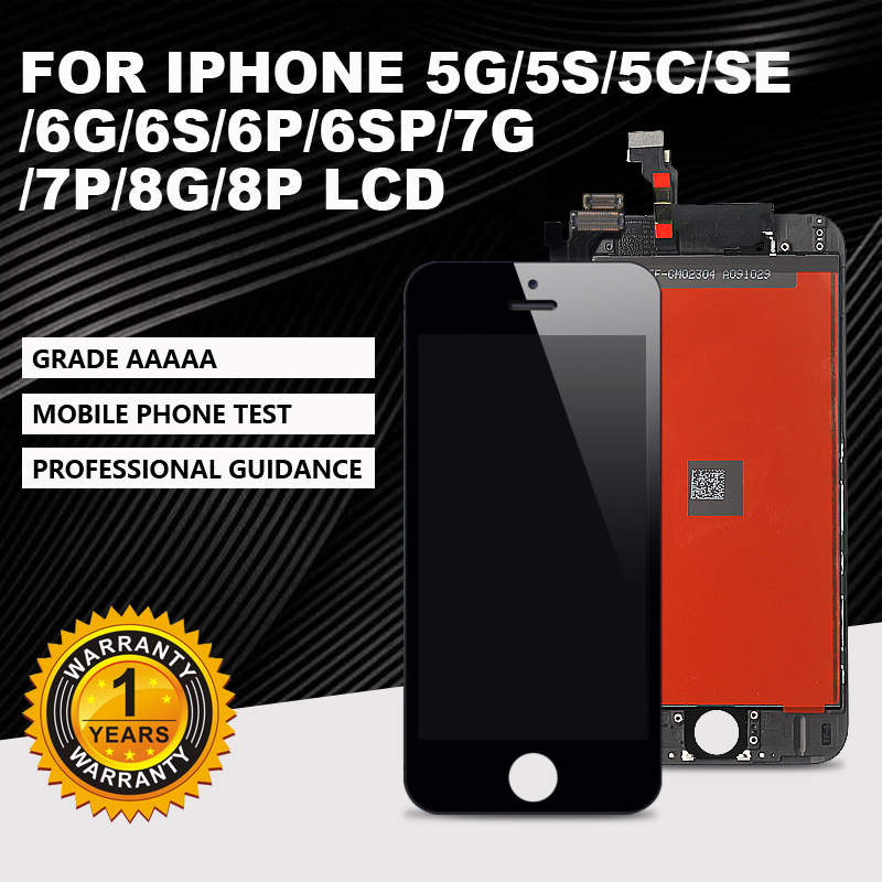 AAA+For IPhone5S 5 5C 6G 6S 8 LCD With Perfect 3D Digitizer MOUNT With Touch Screen For IPhone 7 6P 6SP 7P 8P LCD Display+gift