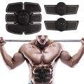 EMS беспроводной тренажер для стимуляции мышц умный фитнес-массажер для тренировки мышц живота массажер для похудения электрические наклей...