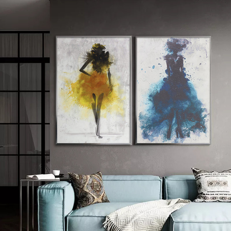 Watercolor Trees Abstract Canvas Art Poster Decorative Picture Modern Home Decor