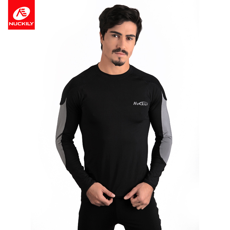 Nuckily Outdoor Sports Riding Sweat Wicking Underwear Men's Body Hugging Running Base Thermal Clothes Manufacturers Direct Suppl