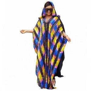 Image 1 - Uzunluk 150cm Afrika Elbiseler Kadınlar Için 2019 Afrika Giyim uzun müslüman elbisesi Yüksek Kaliteli Uzunluk Moda Afrika Elbise Bayan Için