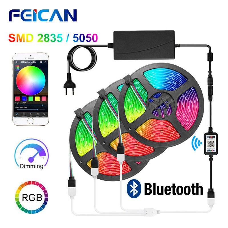 LED Lights Bluetooth RGB LED Strip Light 5050 2835 Light Strip Waterproof RGB Tape Backlight 5M 10M 15M LED Light Neon Ribbon