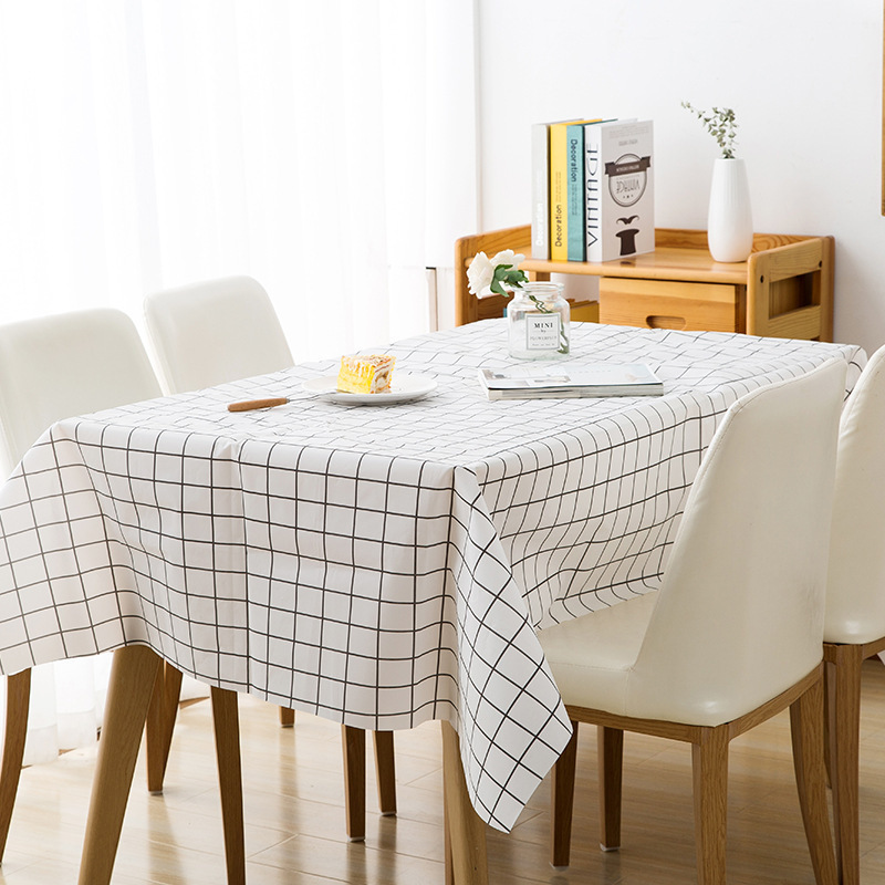 Waterproof tablecloth lattice ins household small fresh disposable tablecloth Wedding Party Dining Table Cover Tea Table Cloth