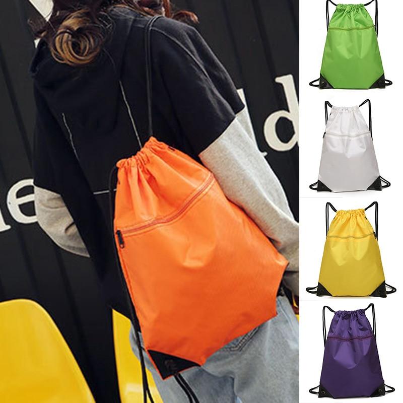 Hot Sellin Simple Sports Drawstring Bag Backpack Men Women Soccer Shoes Bag Fitness Training Travel Lightweight Backpack -B5
