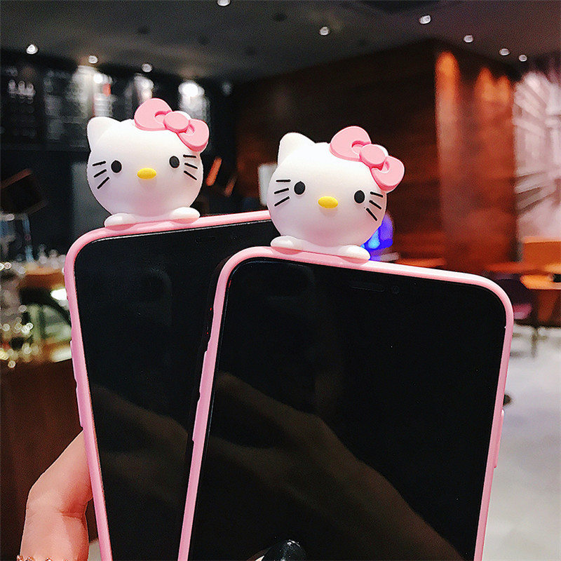 Image 2 - Creative cartoon cute Snoopy phone case for iPhone X XS XR XSMax 8 7 6 6S PluS doll pendant silicone drop protection cover-in Fitted Cases from Cellphones & Telecommunications
