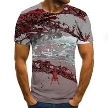 2020 New 3d Printing Funny T -Shirt Men Hip -Hop Fashion T -Shirt Fun Harajuku Style Funny Shirt