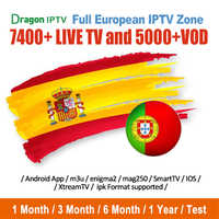 Suscripción IPTV España Portugal 1 año canal español espa a M3U abonnement IPTV Europa RU Francia árabe para Android smart tv