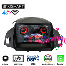 Sinosmart รถนำทาง GPS วิทยุสำหรับ Ford Kuga 2013,2014,2015สำหรับ Escape C Max 2012 20182.5D IPS/QLED 8 Core,DSP 48EQ