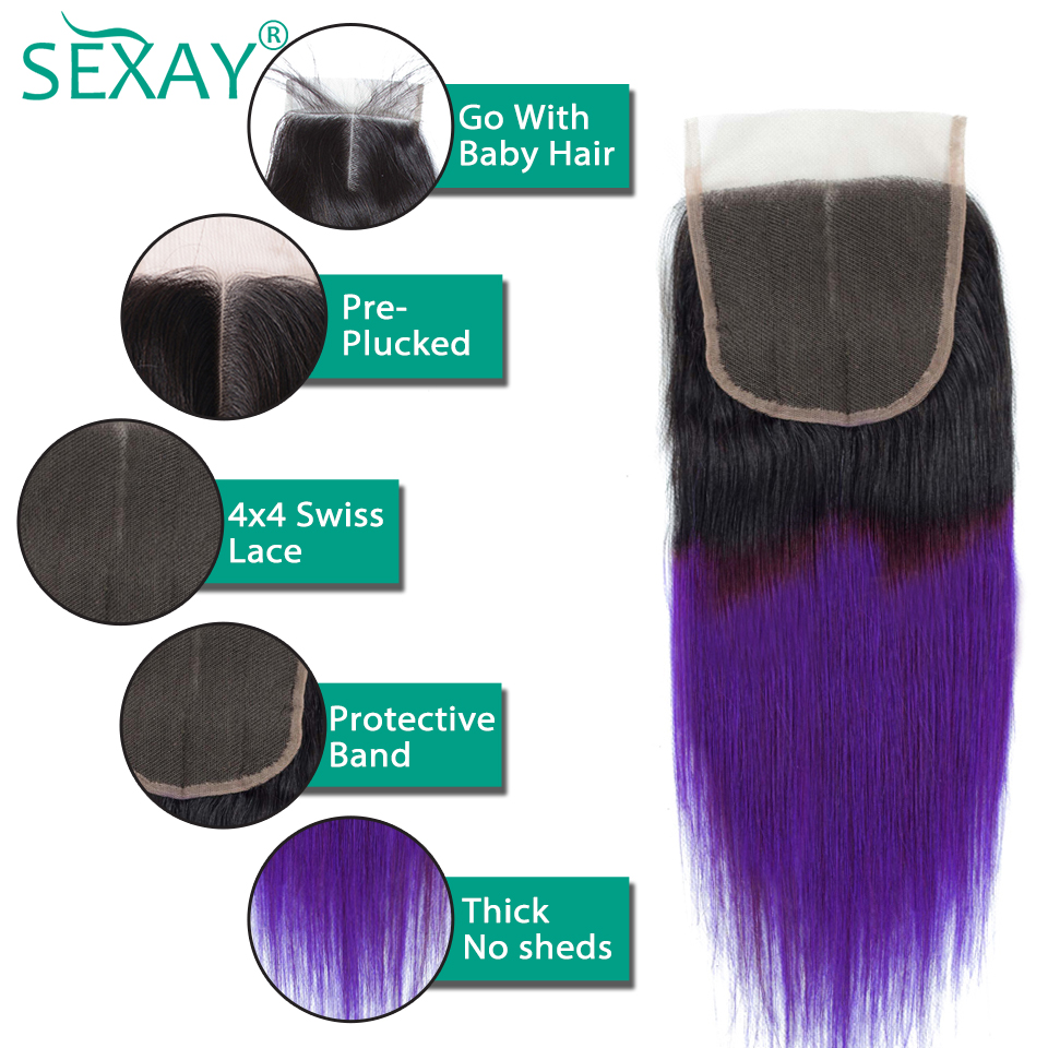 Ombre-Human-Hair-Bundles-With-Closure-1b-Purple-27-99j-Pre-Colored-Hair-Weave-Ombre-Brazilian (7)