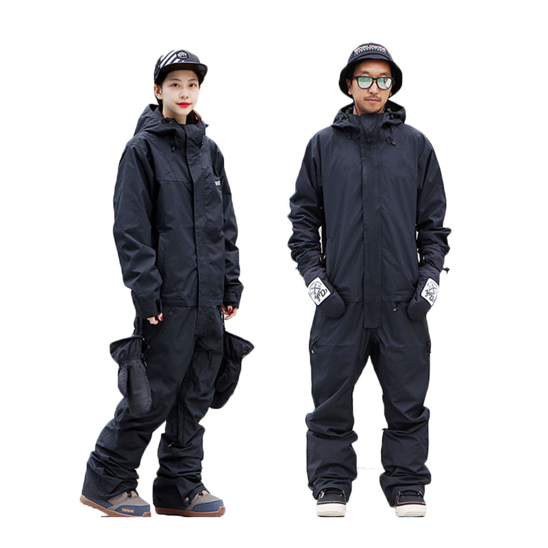 SAENSHING One Piece Ski Suit Wmen Winter Warm Waterproof Jacket + Pants Thermal Snowboard Jumpsuit Female Breathable Slim Set
