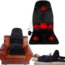 Cadeiras elétricas pescoço massageador para trás cadeiras cadeira de massagem almofada do assento vibrador massageador almofada aquecida para perna cintura corpo mas