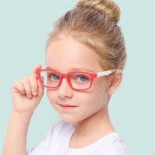 купить 2019 New Baby Anti-blue Light Silicone Glasses Brand Children Soft Frame Goggle Plain Glasses Kids Eye Fame Eywear Fashion дешево