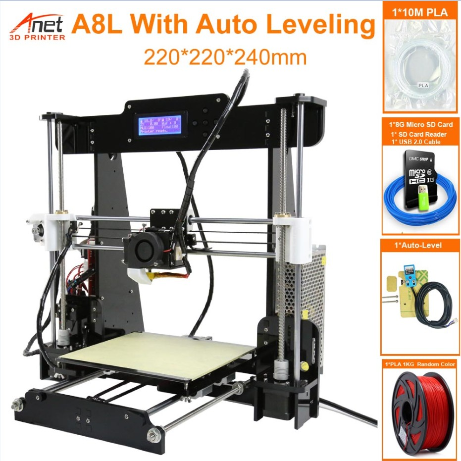 Anet A6 3D Printer i3 DIY Kit LCD Screen TO Large Printing With Auto Leveling