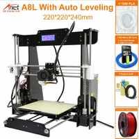 Anet Auto A6 A8 3D imprimante haute vitesse d'impression Reprap Prusa i3 haute précision jouets bricolage 3D imprimante Kit avec Filament aluminium Hotbed