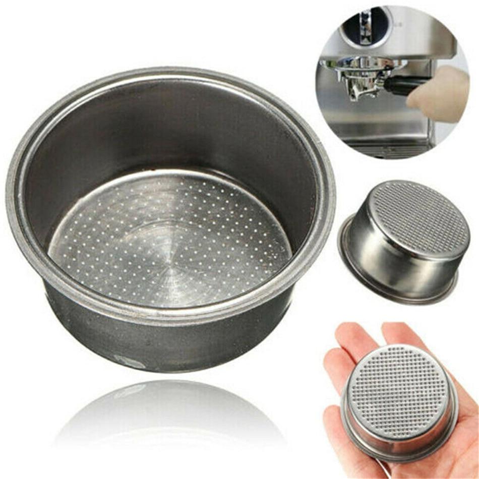 1*Silver Pressurized Filter Basket For Breville Delonghi Krups Accessories Parts
