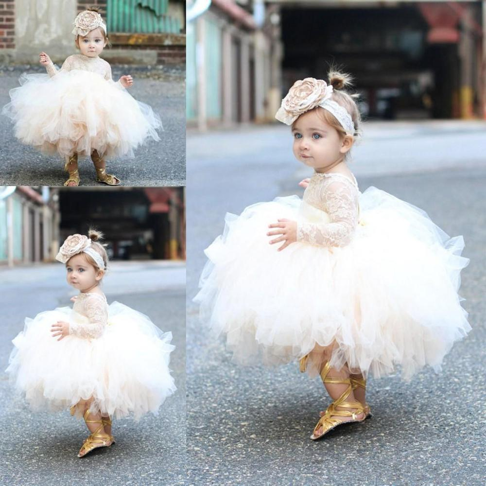 Pretty Lace Tops Tulle Ball Gown   Flower     Girls     Dress   Toddler Pageant   Dresses