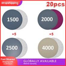 Алмазные полировальные диски, 20 шт., для влажной и сухой полировки, 3 дюйма, 1500-4000, антистатические