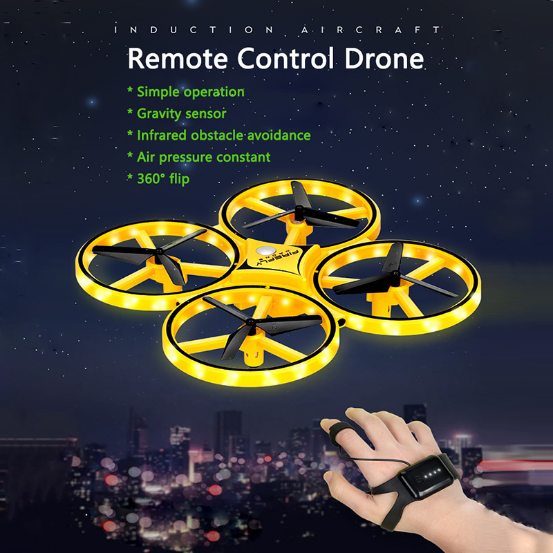 Hot Fly UFO Drone Quadcopter Remote Control RC Fly Helicopter LED Infraed Induction UAV Aircraft Toys For Kids,Children,Adult