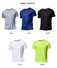 Multicolor szybkie suche sportowe z krótkim rękawem T Shirt siłownia koszulki koszulka treningowa trener T-Shirt do biegania męska oddychająca odzież sportowa