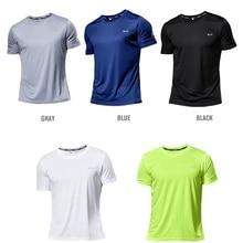 Sport T-Shirt Jerseys Trainer Short-Sleeve Gym Multicolor Quick-Dry Breathable Men's