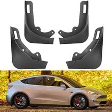 Tesla Брызговики Автомобильные Брызговики Tesla модель Y 2021 Брызговики Автомобильные Брызговики Tesla спереди и сзади защитный чехол для крыла