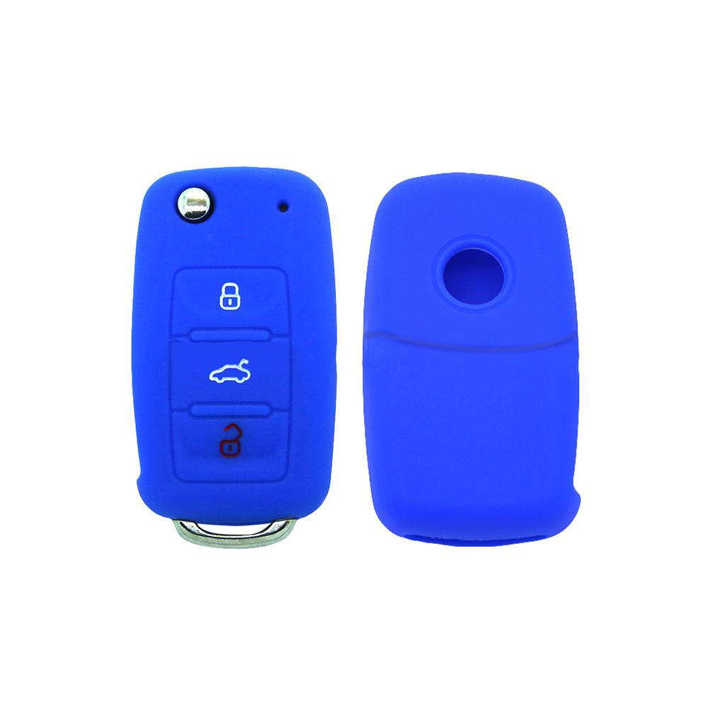 Hot Silicone Car Key Cover Case Shell Fob For VW Golf Bora GOLF Passat For Skoda Octavia A5 Fabia For SEAT Ibiza
