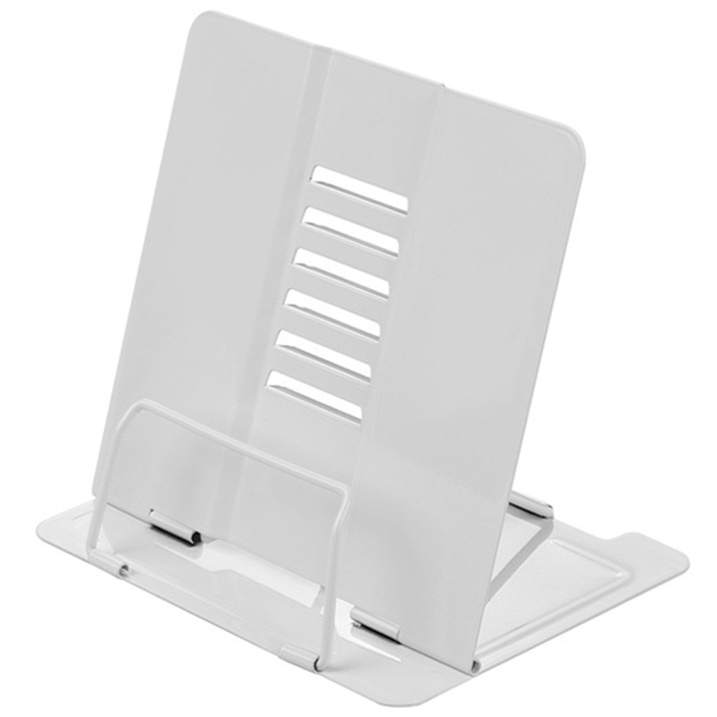 Botique-White Office/School Bookstand Bookshelf Document Holder Steel Book Holder Adjustable Six Angles Reading Tool For Magazin