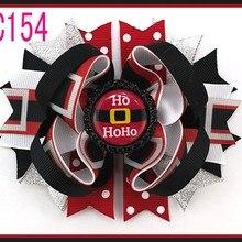 B 15 шт. рождественские банты для волос карамельный тростник бант Санта заколка для волос олень праздник веселая Рождественская бабочка