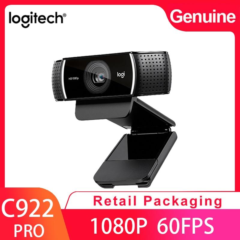 Оригинальная веб-камера Logitech C922 Pro 1080P Web 30 кадров в секунду Full HD веб-камера со встроенным микрофоном и штативом для потоковой записи