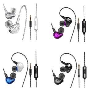 Image 5 - ブランド新qkz CK9イヤホンデュアル移動コイル 耳ヘッドセット重低音ステレオイヤホンハイファイdjスポーツイヤホンホンヘッドセットインナーイヤー