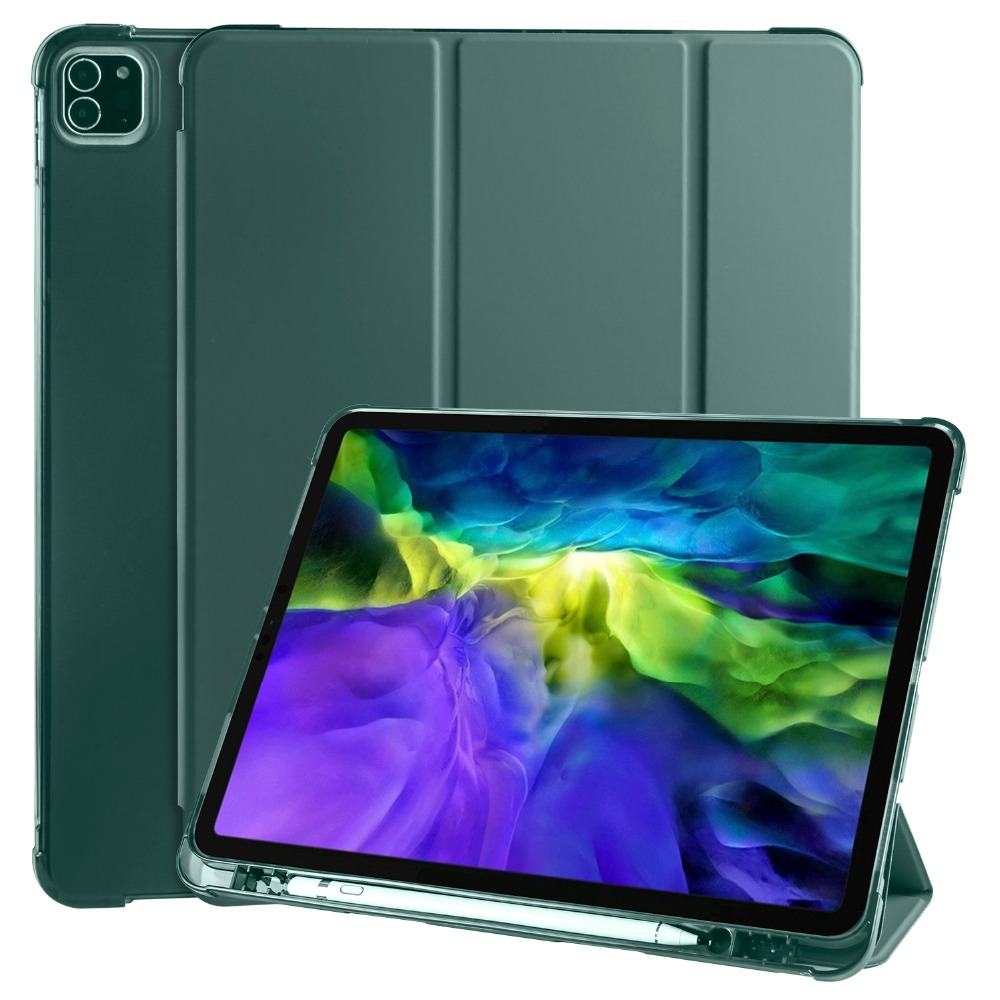 For iPad 12 Case Soft Cover Shell Holder 9 Apple Pencil iPad TPU Pro 2018 with for 2020