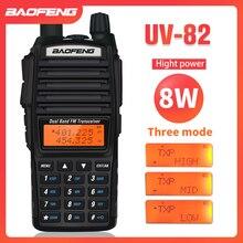 8W Dual Band Walkie Talkie 10km Baofeng UV 82 FM Transceiver Tragbare CB Ham Radio 128CH VHF/UHF UV 82 Two Way Radio 2800mAh