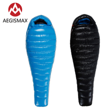 AEGISMAX Goose Down G Series Adult Outdoor Camping Ultralight Hiking Tent Mummy Splicable Down Sleeping Bag Lzay Bag aegismax d1 d2 90% white duck down mummy sleeping bag outdoor camping ultralight lengthened winter warm adult sleeping bag 650fp