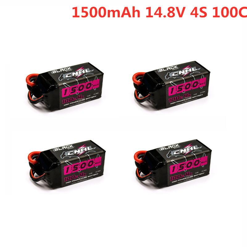Hot Sale CNHL BLACK SERIES 1500mAh 14.8V 4S 100C Lipo Battery XT60 Plug for RC Drone FPV Racing Multirotor RC Parts Accessories