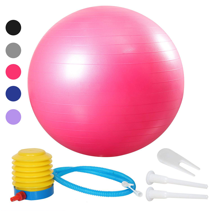 55/65/75cm Yoga Exercise Ball Pilates Fitness Gym Balance Fit Ball Anti Burst Slip Resistant Balance Ball For Workout Fitness