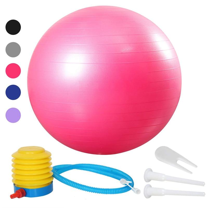 55/65/75cm Yoga Exercise Ball Pilates Fitness Gym Balance Fit Ball Anti Burst Slip Resistant Balance Ball For Workout Fitness