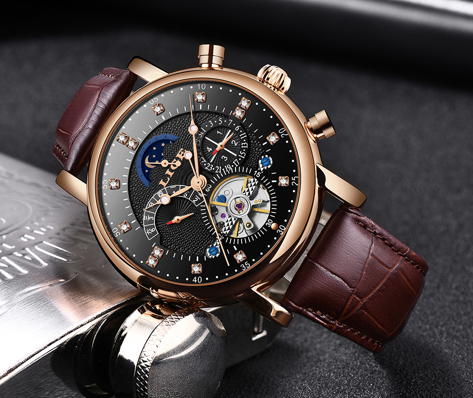 H76e0ea636b424dbb9fb2e775c3f8695ek LIGE Gift Mens Watches Brand Luxury Fashion Tourbillon Automatic Mechanical Watch Men Stainless Steel watch Relogio Masculino