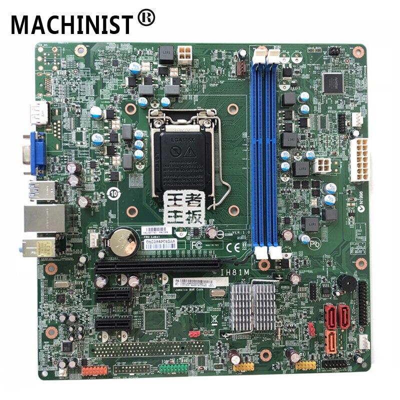 Original For Lenovo ThinkCentre E73 IH81M Ver:1.0 Desktop Motherboard MB H81 LGA 1150 DDR3 03T7161 00KT255 Fully Tested