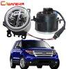 Cawanerl 2 Pieces Car LED Bulb 4000LM Fog Light + Angel Eye Daytime Running Light DRL 12V For Ford Explorer 2011 2012 2013 2014