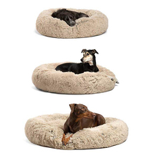 Soft Plush Cat Bed for Small Large Kennel Dog Bed Cats Sofa Winter Mats House for Cat Plush Cat Nest Pet Deep Sleeping Bed цена