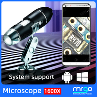 Microscopio Digital con USB trinocular para teléfono móvil, microscopio electrónico Digital para soldar, lupa de 8 LED, cámara endoscópica tipo C