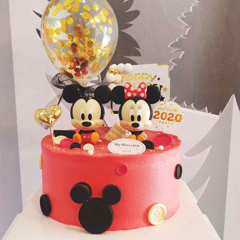 Cartoon Cake Mickey Minnie Baking Decoration Baby Birthday Party Decoration Supplies Mickey Minnie Birthday Gift For Girl Boy Disposable Party Tableware Aliexpress