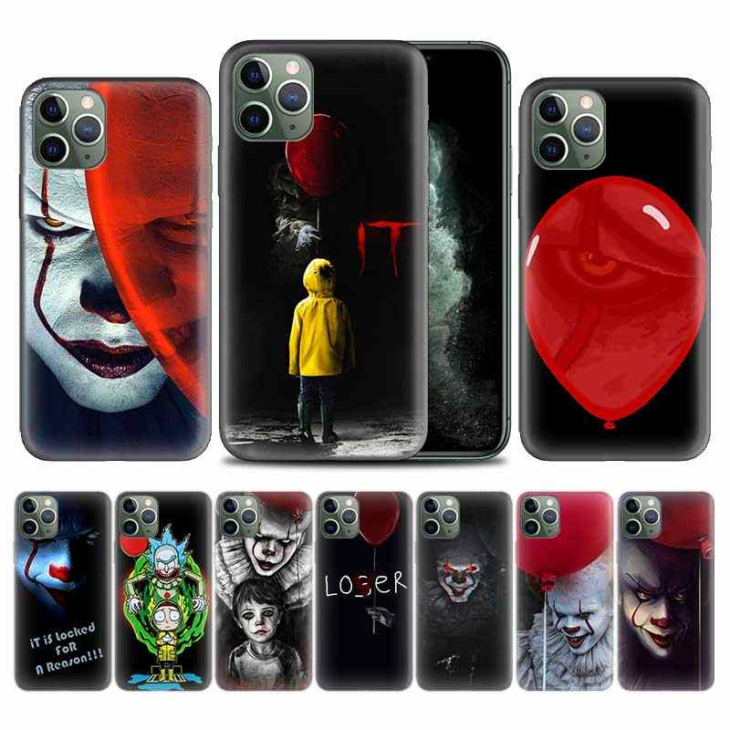 Pennywise Clown Horror di Caso per Apple iphone 11 Pro XS Max XR X 7 8 6 6S Plus 5 5S SE 5C Soft Cover Del Telefono TPU Coque