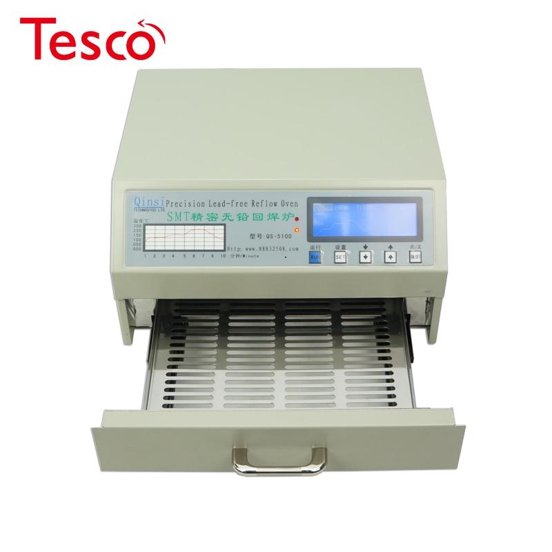 Forno automático do reflow do desktop QS-5100 600w automático para a área 180*120mm do retrabalho de smd