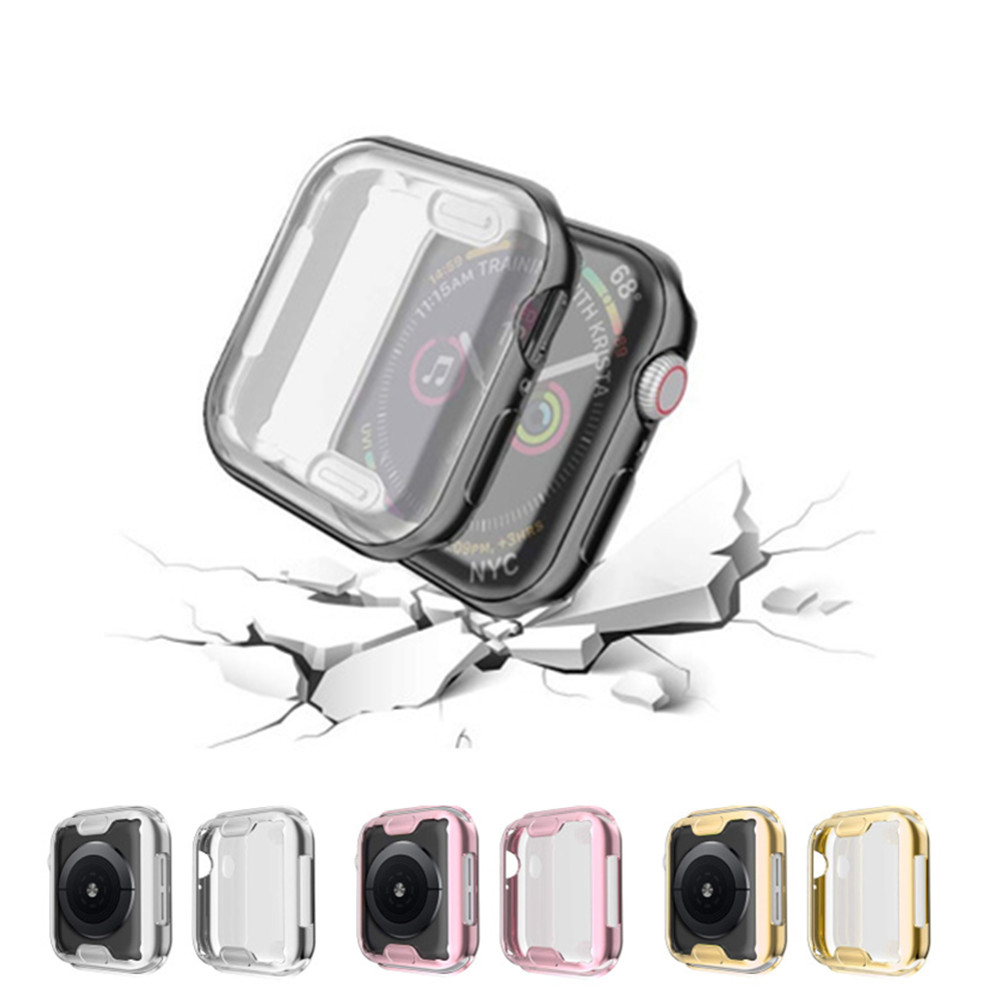 TPU cover For Apple Watch case 4 5 44mm/40mm iWatch case 42mm/38mm Soft Screen protector bumper apple watch 3 2 1 case 42mm 38mm image